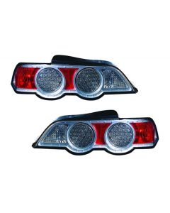 ACURA RSX 02-04 TAIL LIGHTS LED TITANIUM/SILVER