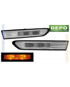 ACURA TL 04-08 FRONT SIDE MARKER LIGHTS LED DIAMOND CLEAR LENS