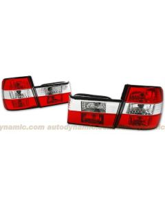 BMW 5-Series E-34 89-95 Euro Red and Clear Tail Lamps