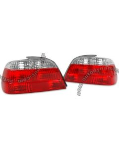 BMW 7-Series E-38 E38 95-01 Euro Red and Clear Tail Lamps