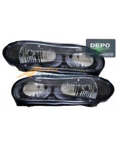 CHEVROLET CAMARO 98-02 HEAD LIGHTS BLACK BEZEL