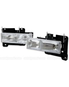 CHEVROLET/GMC C/K 10 TRUCK 88-02 / SUBURBAN/YUKON 92-99 / BLAZER 92-94 / TAHOE 95-99 HEAD LIGHTS DIAMOND COMPOSITE