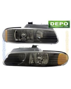 CHRYSLER TOWN & COUNTRY 98-99 HEAD LIGHTS OE STYLE BLACK