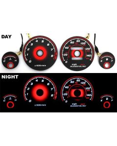 Acura Integra LS/GS/RS 94-01 Glow Gauges Black Face Manual Transmission