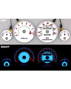 Acura Integra LS/RS/GS 94-01 Manual Transmission White Face Reverse Glow Gauges