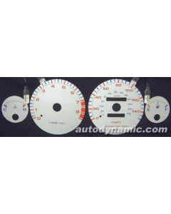 Acura Integra LS/RS/GS 94-01 Manual Transmission Silver Face Reverse Glow Gauges
