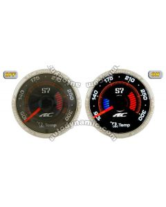 AC S7 Titanium Series Water Temperature Auto Gauge/Meter 52mm with Black Face Trim