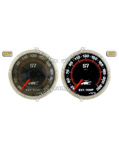 AC S7 Titanium Series Exhaust Gas Temperature Auto Gauge/Meter 52mm with Black Face Trim