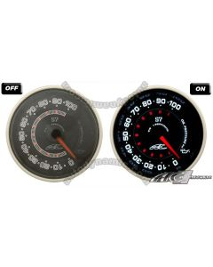AC S7 Titan Series Black Face Clear Lens- 60mm Electrical Oil Pressure Gauge/Meter