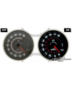 AC S7 Titan Series Black Face Clear Lens- 60mm Electrical Voltage Gauge/Meter