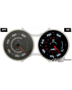 AC S7 Titan Series Black Face Clear Lens- 60mm Electrical Water Temperature Gauge/Meter