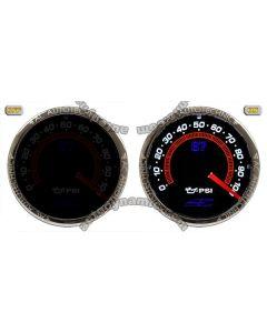AC S7 Invision Smoked Lens Series - Oil Pressure Gauge/Meter
