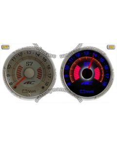 Electrical Voltage Auto Gauge/Meter - S7 Dimensional Reverse El Glow Diameter