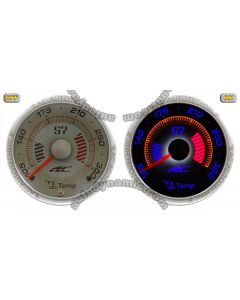 Water Temperature Auto Gauge/Meter - S7 Dimensional Reverse El Glow Diameter