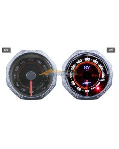 AC Autotechnic S7 OR8 Series Exhaust Gas Temperature (EGT) Auto Gauge/Meter 52mm with Black Face Trim and Octagonal Bezel