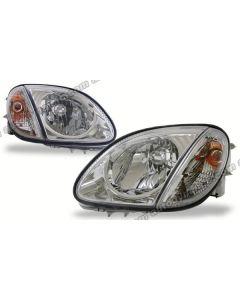 Mercedes Benz SLK-Class 99-04 W170 Chrome Housing Diamond Cut Headlamp with Matching Corner Lamp