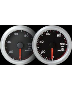REVO REV2 Electrical Oil Pressure Gauge with White LED