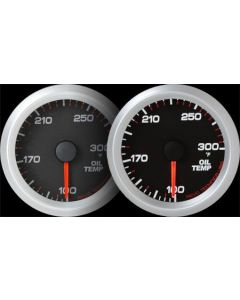 REVO REV2 Electrical Oil Temperature Gauge with White LED