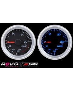 REVO REV2 Gen2 Mechanical Turbo Boost Gauge with Blue LED