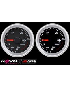 REVO REV2 Gen2 Mechanical Turbo Boost Gauge with White LED